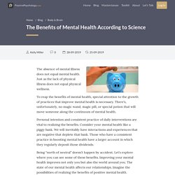 The Benefits of Mental Health According to Science
