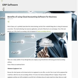Benefits of using Cloud Accounting Software for Business