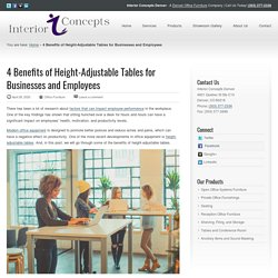4 Benefits of Height-Adjustable Tables - Interior Concepts