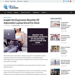 Benefits Of Adjustable Laptop Stand For Desk
