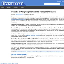 Benefits of Adopting Professional Handyman Services