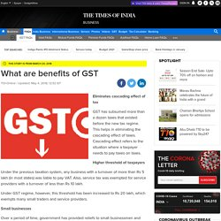 GST benefits: What are the advantages of GST ( Goods and Services Tax)