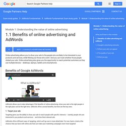 1.1 Benefits of online advertising and AdWords - Google Partners Help