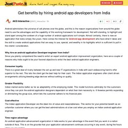 Get benefits by hiring android app developers from India