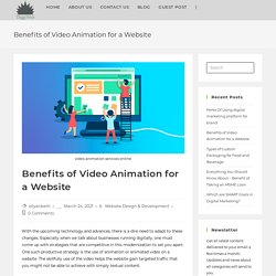 Benefits of Video Animation for a Website - DiggiWeb