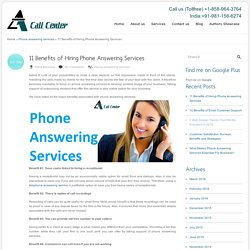 11 Benefits of Hiring Phone Answering Services
