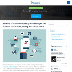 Benefits of Expense Manager App