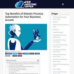 Top Benefits of Robotic Process Automation for Your Business