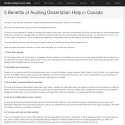 5 Benefits of Availing Dissertation Help in Canada