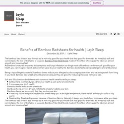 Benefits of Bamboo Bedsheets for health