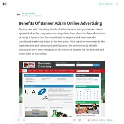 Benefits Of Banner Ads In Online Advertising