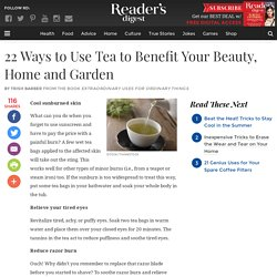 Tea Benefits: 22 Uses for Beauty, Health, Home & Garden