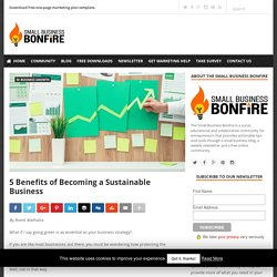 5 Benefits of Becoming a Sustainable Business » Small Business Bonfire