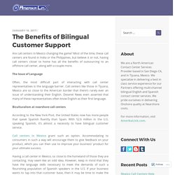 The Benefits of Bilingual Customer Support
