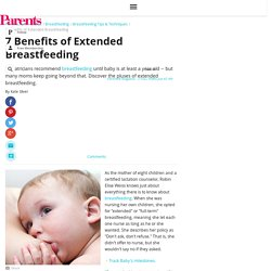7 Benefits of Extended Breastfeeding