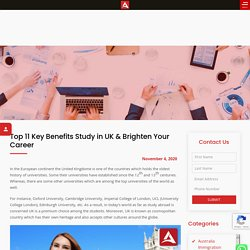 Top 11 Key Benefits Study in UK & Brighten Your Career - Aspire Square
