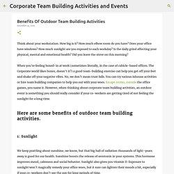 Benefits Of Outdoor Team Building Activities