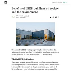 Benefits of LEED buildings on society and the environment