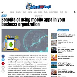 Top Mobile Apps Benefits for Your Business