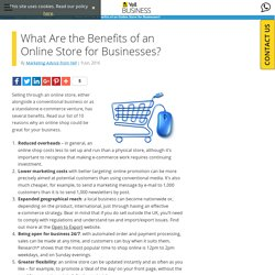 What Are the Benefits of an Online Store for Businesses? - Yell Business