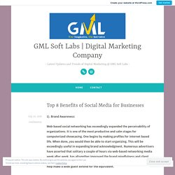 Top 8 Benefits of Social Media for Businesses – GML Soft Labs