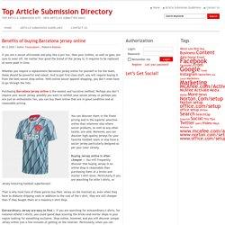 Benefits of buying Barcelona jersey online