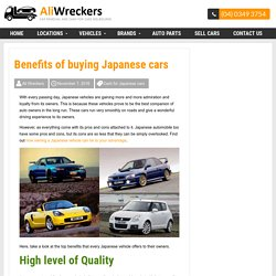 Benefits of buying Japanese cars -