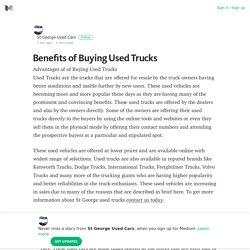 Benefits of Buying Used Trucks – St George Used Cars – Medium