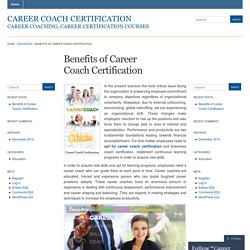 Benefits of Career Coach Certification