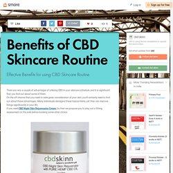 Benefits of CBD Skincare Routine