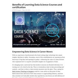 Benefits of Learning Data Science Courses and certification