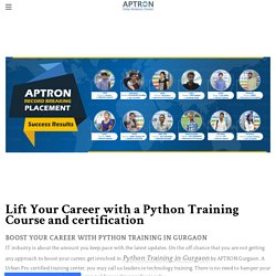 Benefits of Learning Python Courses and certification