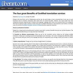 The four great Benefits of Certified translation services