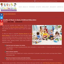 Benefits of Music in Early Childhood Education