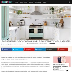The Benefits of Choosing Simple Painted Kitchen Cabinets