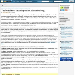 Top benefits of choosing online education blog by Kavya Somer