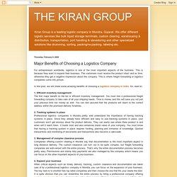 4 Benefits of Choosing a Logistics Company