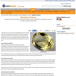 Benefits of Citrine
