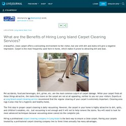 Professional Carpet Services Long Island - Benefits