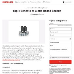 Top 4 Benefits of Cloud Based Backup