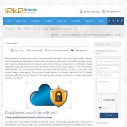 Top 5 Benefits Of Cloud Based Security - i2k2 Blog