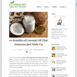 10 Benefits of Coconut Oil That Someone Just Made Up