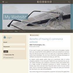 Benefits of Having E-commerce website