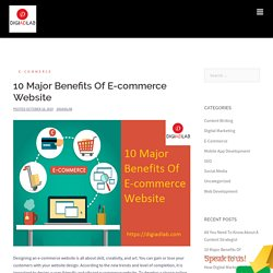 10 Major Benefits Of E-commerce Website