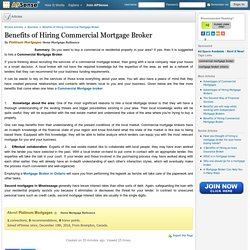 Benefits of Hiring Commercial Mortgage Broker