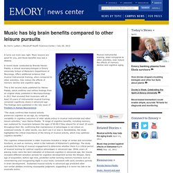 Music has big brain benefits compared to other leisure pursuits