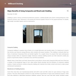 Major Benefits of Using Composite and Wood Look Cladding