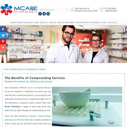 The Benefits of Compounding Services