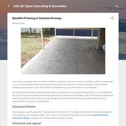 Benefits Of Having A Concrete Driveway