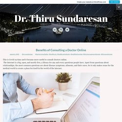 Benefits of Consulting a Doctor Online